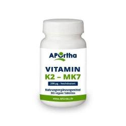 VITAMIN K2 200 µg (MK-7 natürliches Menaquinon) 365 vegane Tabletten