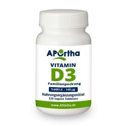 VITAMIN D3 Depot 5.600 I.E - 140 µg 120 vegane Tabletten