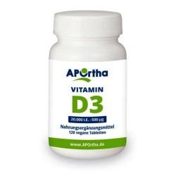 VITAMIN D3 Depot 20.000 I.E - 500 µg 120 vegane Tabletten