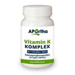 Vitamin K Komplex - K1 + K2 (MK4 + MK7) 120 vegane Tabletten